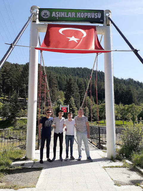 Harun İstenci, Taner Keşcioğlu, Kubilay Kılıçoğlu ve Serkan Kebapçı Azdavay'da Aşıklar Köprüsünde. | Azdavay, Kastamonu