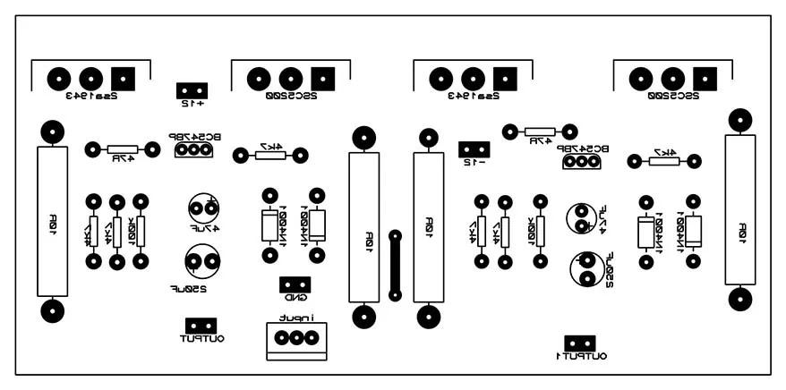 2sc5200 2sa1943 amplifier circuit diagram pcb top mirror