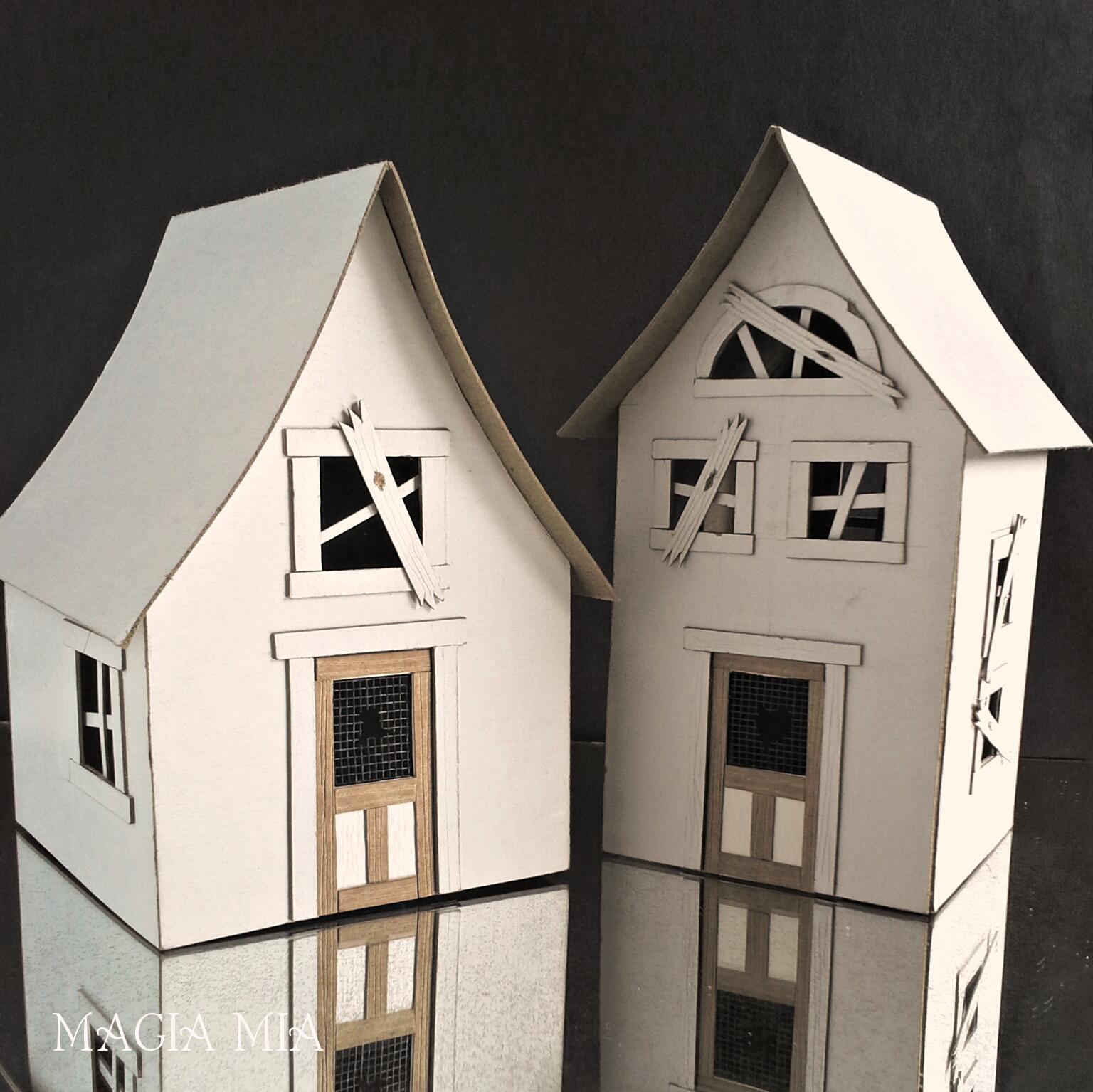 Magia Mia: Handmade Halloween Putz Houses