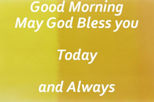 God Blessing Good Morning