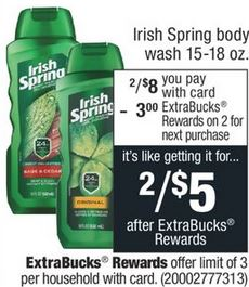 FREE Irish Spring Body Wash CVS Deal 6-28-7-4