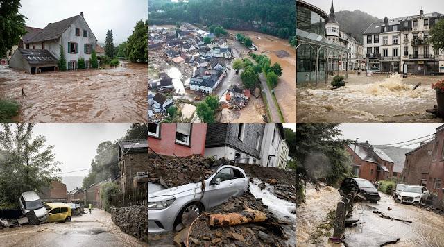 Chuvas e inundações deixam mais de 60 mortos na Alemanha e na Bélgica; mais de 1.300 pessoas não foram localizadas