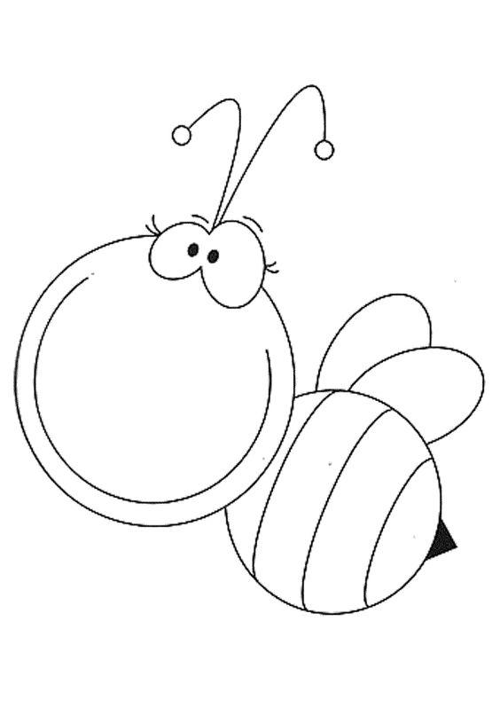 Hình tô màu con ong cho bé