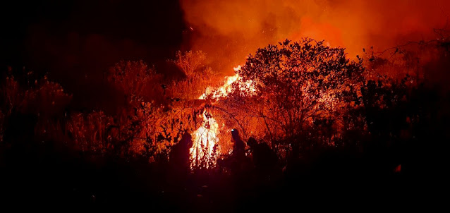 Incendio em Mucugê e Andaraí (Foto: Sematur/Divulgação)