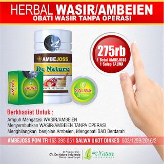 Obat Wasir De Nature Untuk Pria Dan Wanita Asli 100%