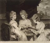 Portrait of the Ladies Waldegrave by Valentine Green - Portrait art prints from Hermitage Museum