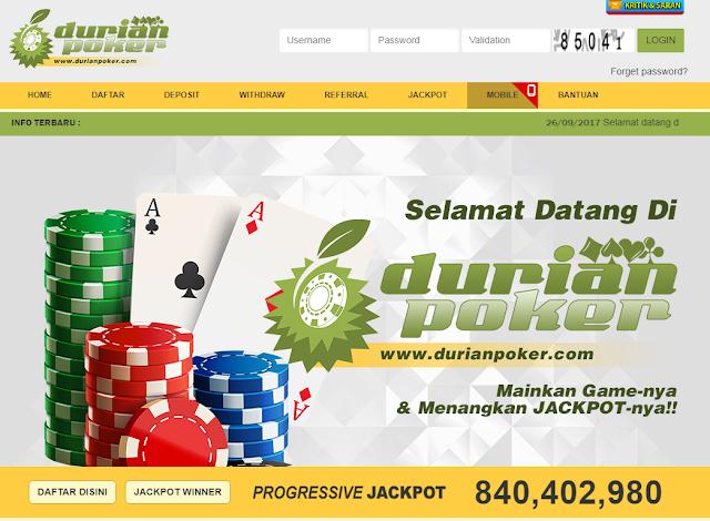 DurianPoker.com Adalah Bandar Agen Poker Online Uang Asli Terpercaya