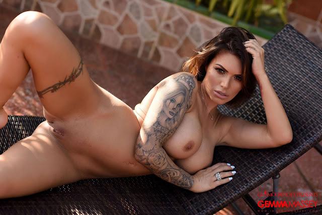 Gemma Massey wide open naked pussy big tits