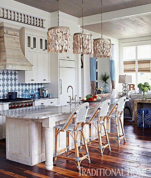 Riviera Bar Stools as a Nautical Design Element in a Beach House
