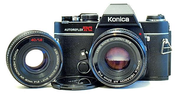 Konica Autoreflex TC, Hexanon AR 50mm F1.8, Hexanon AR 40mm F1.8