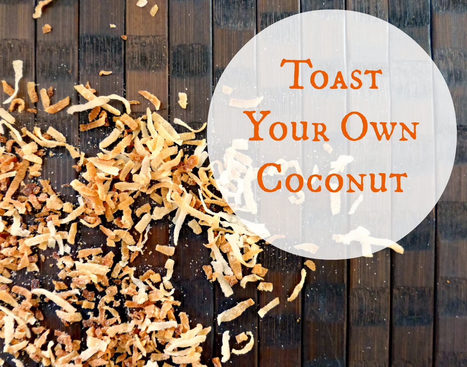 how to toast your own coconut at home