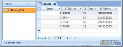 Database Table Record show in MSHFlexGrid