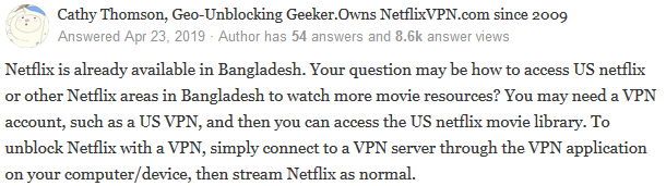 Netflix in Bangladesh