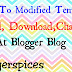 Modified Template Html, Download, Change