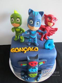 bolo aniversário PJ Masks