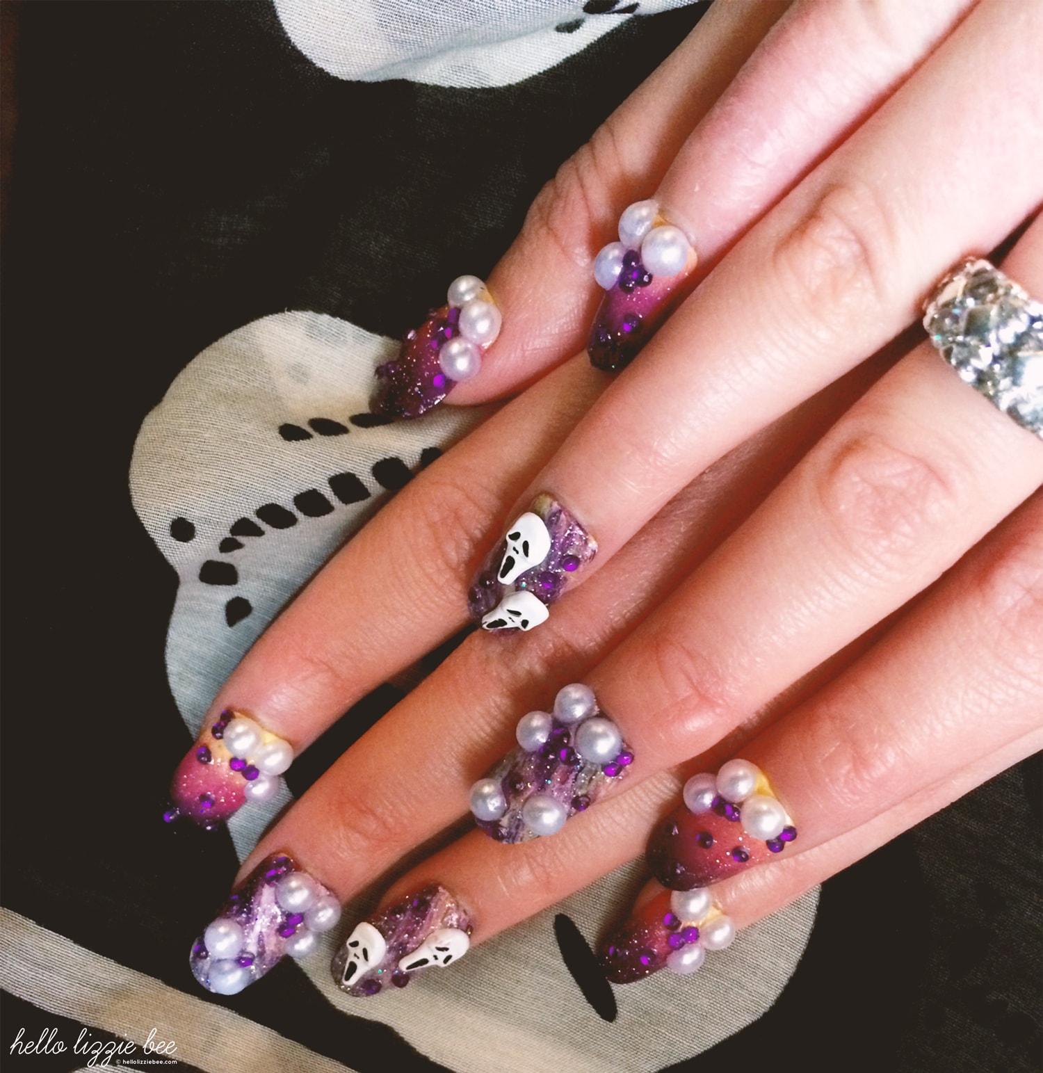 halloween gyaru nails