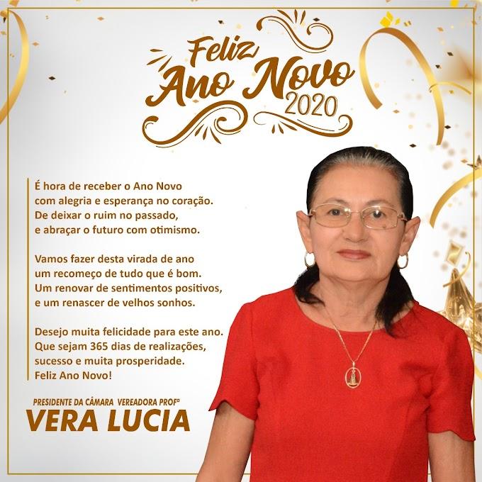 Feliz Ano Novo, veja a linda mensagem da Vereadora Vera