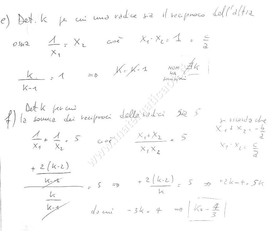 ESERCIZI SVOLTI DI MATEMATICA: Esercizio 1 - Equazioni ...