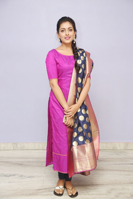 Madhu Shalini in a Pink Salwar Kameez
