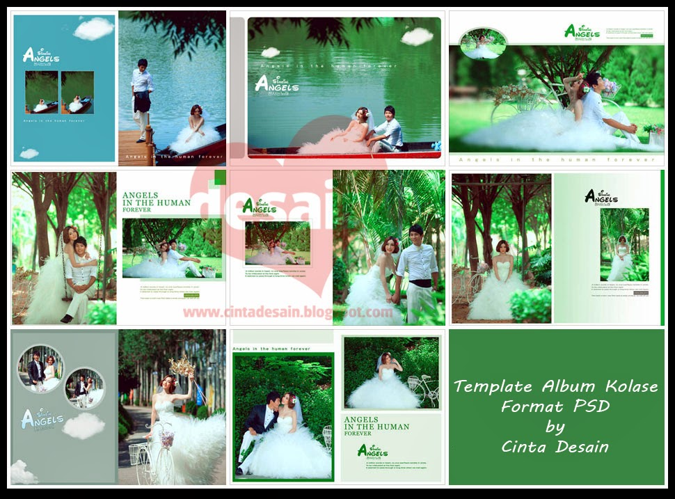 template album kolase format psd volume-4