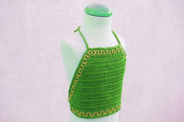 6 - Crochet Imagen Top halter de verano a crochet y ganchillo por Majovel Crochet