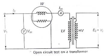 Transformer open circuit test in hindi