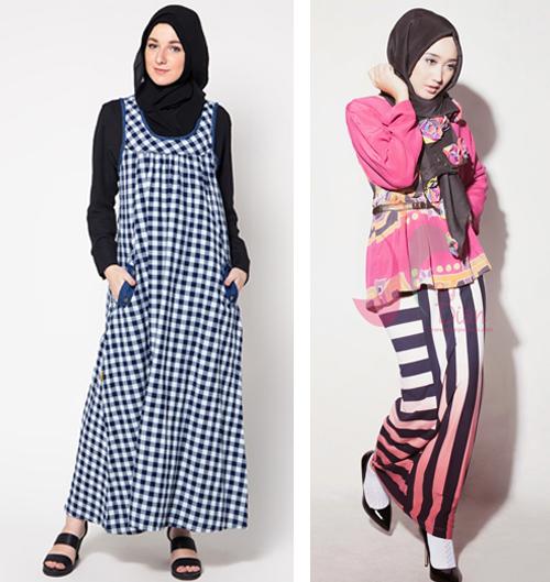 contoh model baju gamis santai