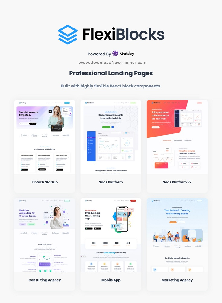 Best React Gatsby Landing Page Templates