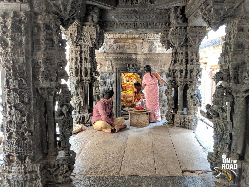 Vasantha Mantapa or divine marriage alter at Bhoga Nandeeswara Temple, Karnataka