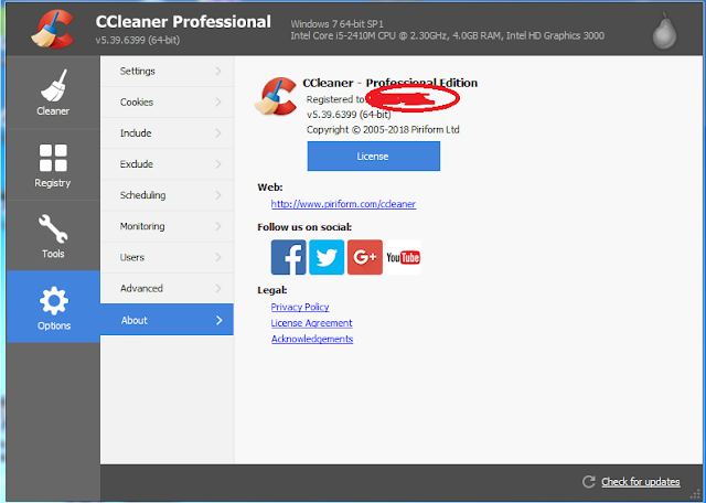 Latest CCleaner Professional v5.39.6399 Full Registered Version | Iftikhar University
