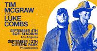 Tim McGraw Announces  Stadium Shows With Luke Combs