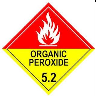 DG CLASS 5.2 ,  Organic Peroxides, HAZAMAT CLASS 5.1 PLACARD