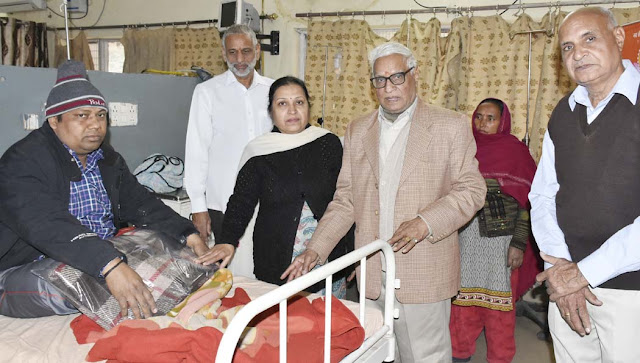 300 blankets distributed by Shri Siddhadar Ashram, patients admitted in BK Hospital