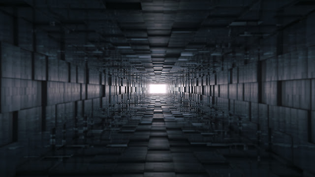 wallpaper 3d tunnel abstract 8k