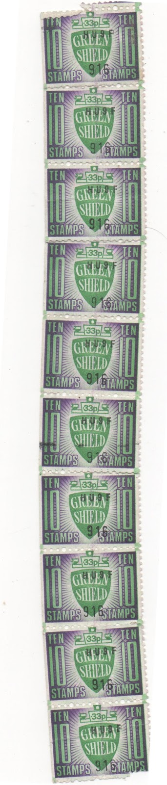 Green Shield ten Stamps x10