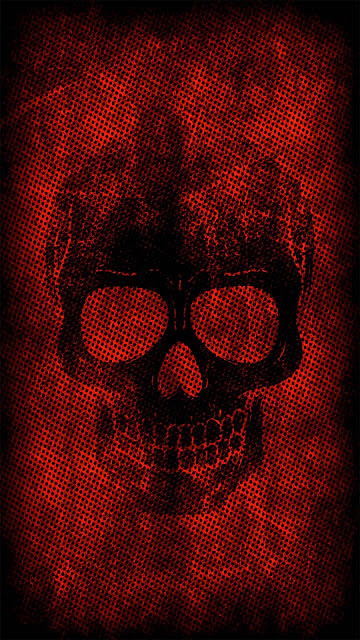 19 Red Line Glitch Skull, Red Dark Skull Ultra HD 4K 5K Wallpapers for iPhone and Android
