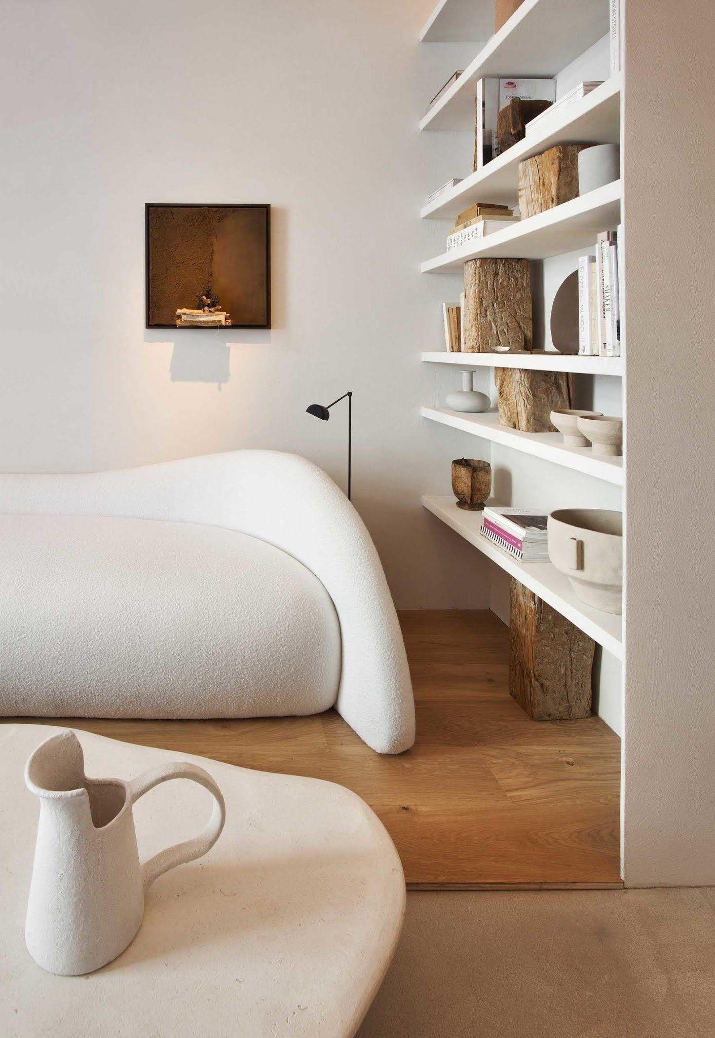 ilaria fatone - A Comforting Wabi-Sabi Space - sofa nook