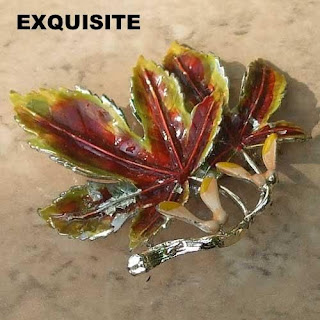 Enamel sycamore brooch by Exquisite