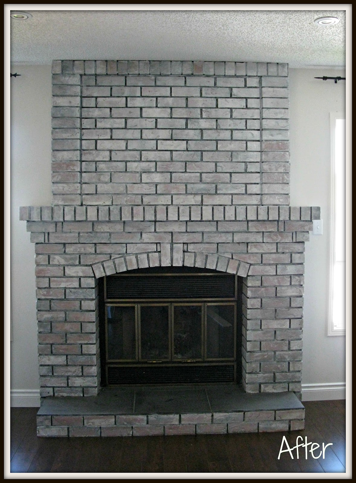 Diy Paint Brick Fireplace White