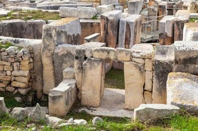 Sito megalitico di Hagar Qim a Malta.