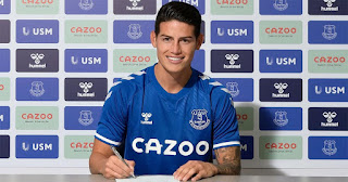 Revealed: Everton reportedly signed James for free from Real Madrid