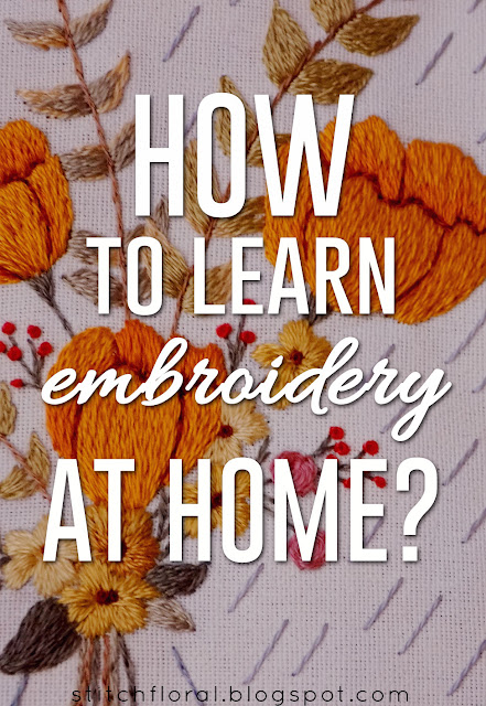 how to learn embroidery at home