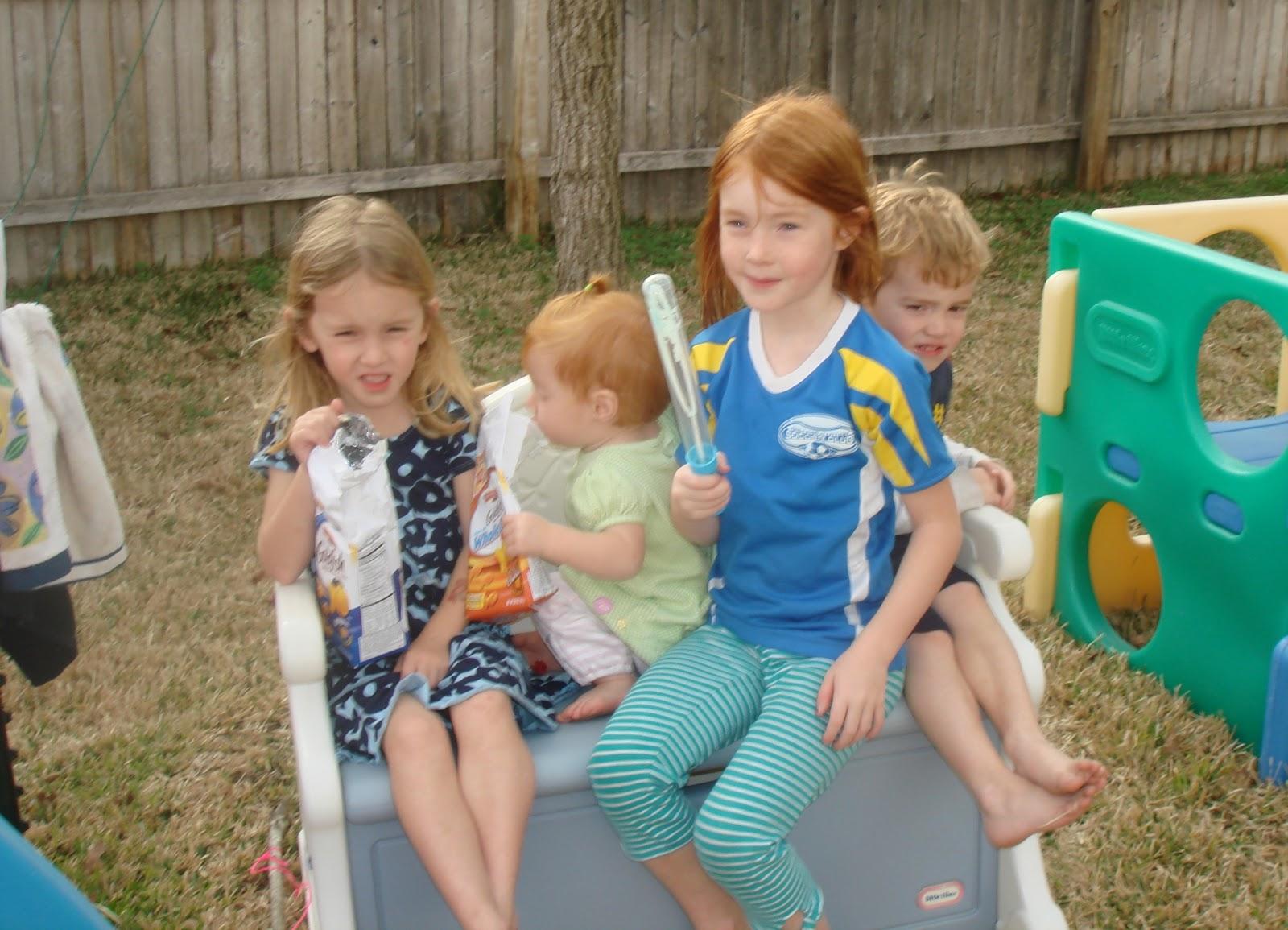 Our Family: Backyard fun