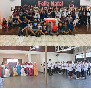 Departamento de Assistência Social de Miracatu realiza confraternização de Natal para os participantes do Centro da Juventude e CCI Vida Nova