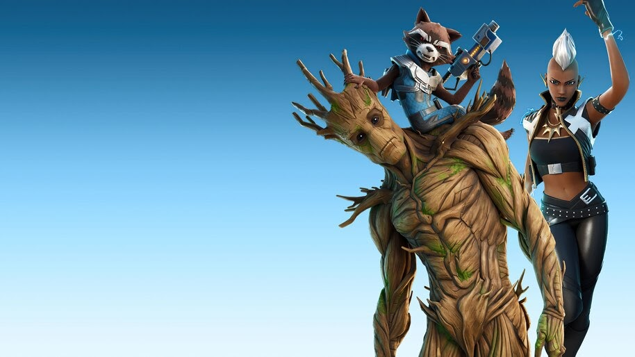 Fortnite Chapter 2 Season 4 Groot Rocket Storm 4k Wallpaper 7 2526