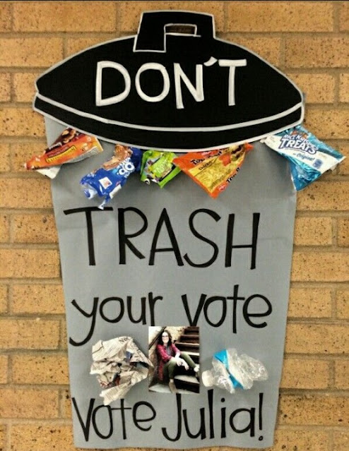 Don't Trash Your Vote - Student Council Poster Ideas
