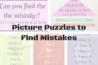 Picture Puzzles to Find Mistakes in Images