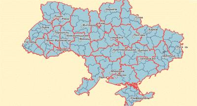 Верховная Рада уменьшила количество районов с 490 до 136