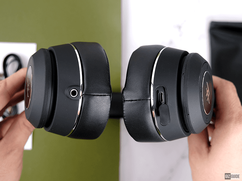 Headphone jack slot and micro USB port
