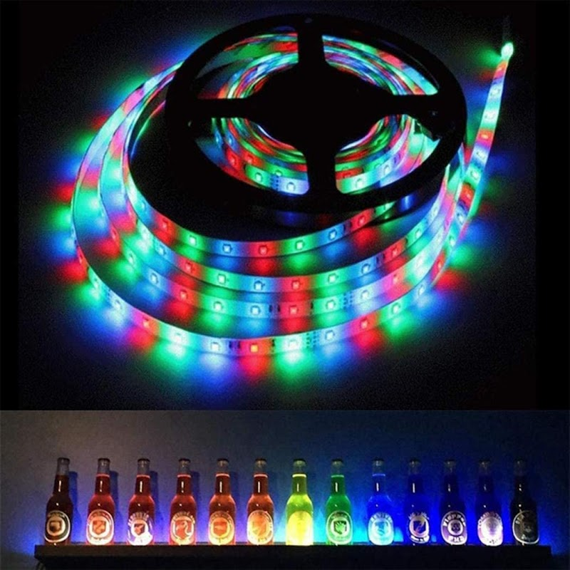 70%  off RGB LED Strip Lights Kit with 44key Remote Control for Room Bedroom Home Kitchen Indoor Decorations